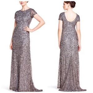 Adrianna Papell Scoop Back Sequin Gown Lead 14